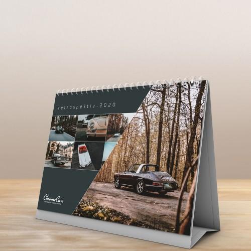 "Tischkalender ""Retrospectiv"" 2020 (DIN A5) - ChromeCars®"