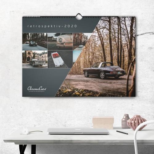 "Wandkalender ""Retrospektiv"" 2020 (DIN A2) - ChromeCars®"